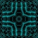 抽象霓虹焕发几何方形的设计 库存图片