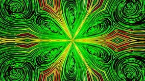 抽象霓虹花背景 数字式3d使 向量例证