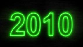 抽象霓虹读秒从年-2000到新年2019年 皇族释放例证