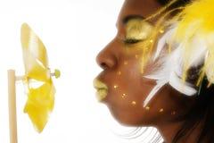 抽象非洲裔美国人的秀丽黑色 免版税库存照片
