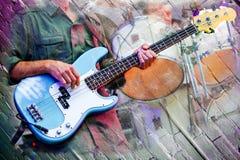 抽象音乐家阶段 免版税库存照片