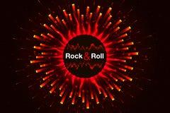 抽象音乐岩石卷背景 火调平器 向量 免版税库存图片