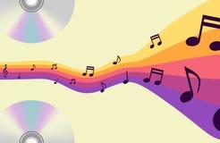 抽象音乐背景  免版税库存照片