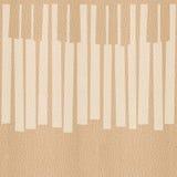 抽象音乐钢琴锁上-无缝的背景-白栎木 图库摄影