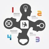 抽象顶头infographic模板数字式设计 向量 免版税库存图片