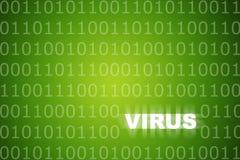 抽象预警背景绿色病毒 免版税图库摄影