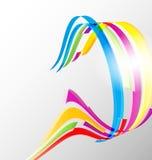 抽象颜色丝带背景 库存例证