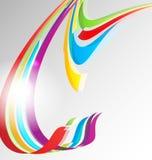 抽象颜色丝带背景 皇族释放例证