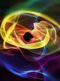 抽象颜色光漩涡 库存图片