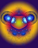 抽象颜色分数维图象 免版税库存图片