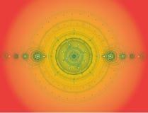 抽象颜色分数维图象 免版税库存照片