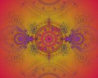 抽象颜色分数维图象 向量例证