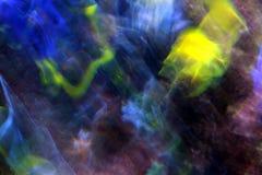 抽象颜色和行动迷离 库存照片