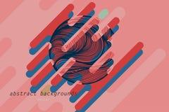 抽象颜色形状艺术样式场面 库存例证