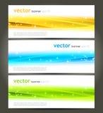 抽象颜色横幅 免版税库存图片