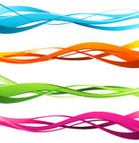 抽象颜色波浪 库存图片