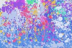 抽象颜色泼溅物背景 库存照片