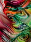 抽象颜色漩涡墙纸 库存例证