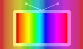 抽象颜色电视 皇族释放例证