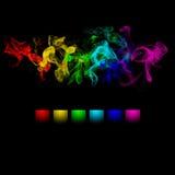 抽象颜色设计烟 免版税库存图片