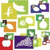 抽象颜色设计要素果子集 免版税库存图片