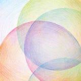 抽象颜色铅笔乱写背景 免版税库存照片