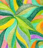 抽象颜色铅笔背景 库存照片