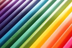 抽象颜色铅笔 免版税库存图片