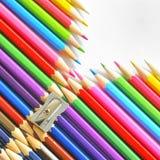抽象颜色铅笔 免版税图库摄影