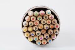 抽象颜色铅笔 库存图片