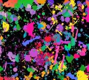 抽象颜色飞溅背景 水彩背景例证 库存照片