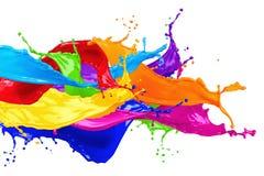 抽象颜色飞溅 库存照片