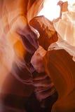 抽象颜色:褐红/橙色槽孔峡谷屏障 库存照片