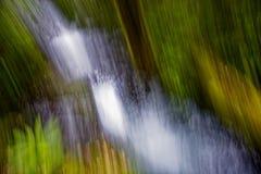 抽象风景射击在尼尔森湖国家公园,新西兰 免版税库存图片