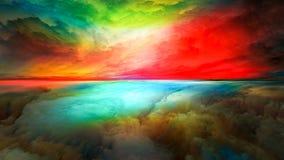 抽象风景视觉  库存例证