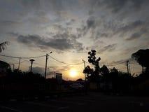 抽象风暴日落风 库存图片