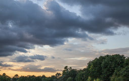 抽象风暴日落风 库存照片