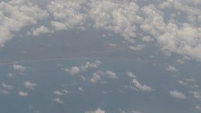 抽象飞机的云彩自然运动 股票录像