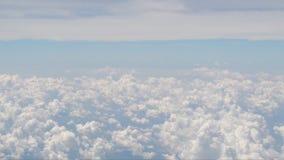 抽象飞机英尺长度的云彩自然运动 影视素材