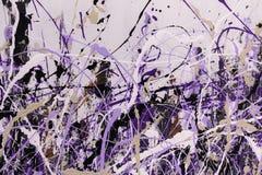 抽象飞溅绘画艺术:与另外颜色Patte的冲程 免版税库存照片