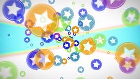 抽象飞行五颜六色的焕发盘旋微粒 向量例证