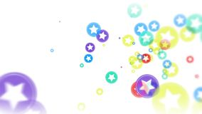 抽象飞行五颜六色的焕发盘旋微粒 皇族释放例证