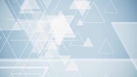 抽象飞行焕发三角形状微粒 库存例证