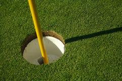 抽象高尔夫球绿色针 库存图片