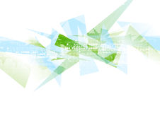 抽象高科技几何多角形形状背景 免版税库存照片