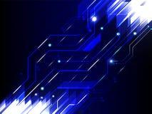 抽象高科技蓝色颜色技术背景 免版税库存照片