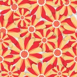 抽象高雅无缝的样式有花卉背景 库存例证