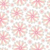 抽象高雅无缝的样式有花卉背景 向量例证