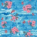 抽象高雅无缝的样式有花卉背景 免版税库存照片