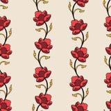 抽象高雅样式有花卉背景 免版税库存照片